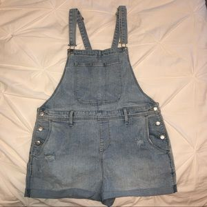 LIGHTWASH DENIM OLD NAVY OVERALLS